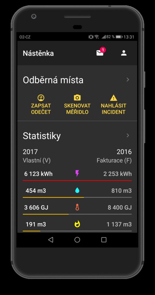 Aplikace energetického managementu EMA+